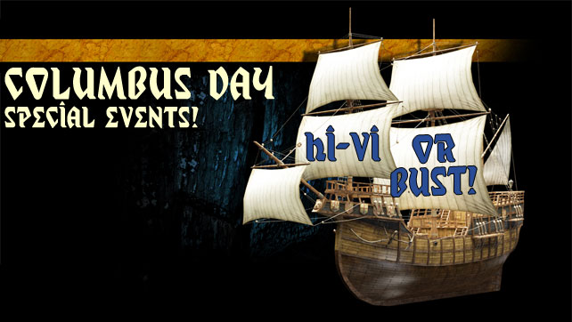 Columbus Day Specials